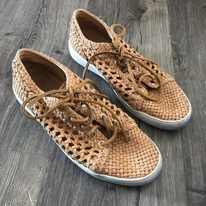 Michael Kors Coll. basket weave leather sneakers